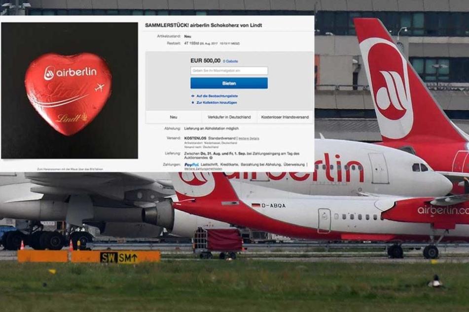 Nach Air-Berlin-Insolvenz: Schokoherzen für 500 Euro bei Ebay