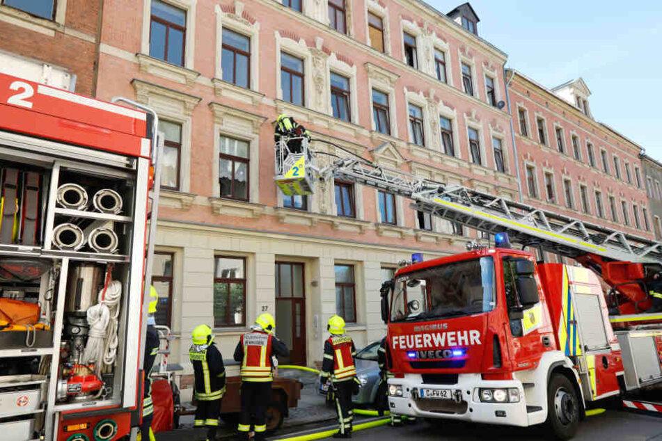 Die Feuerwehr konnte den Brand auf dem Sonnenberg schnell löschen.