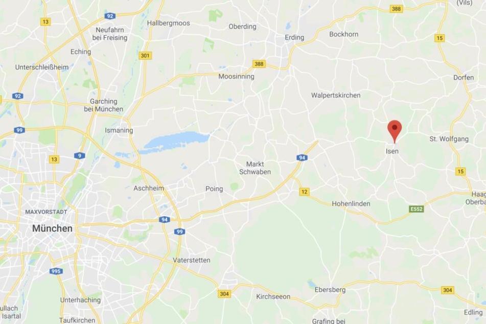In oberbayerische Isen östlich von München, kam es zu einem schweren Unfall, bei dem ein junger Mann starb.