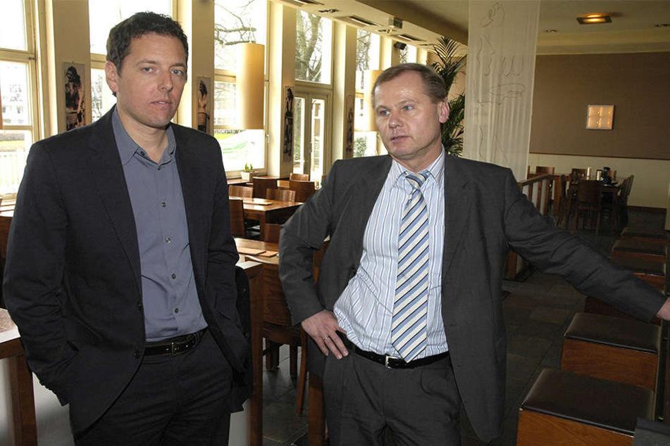 2008 war Roland Kentsch noch im Dienste des DSC. Mit dabei auch der alte Medienleiter Axel Ubben.