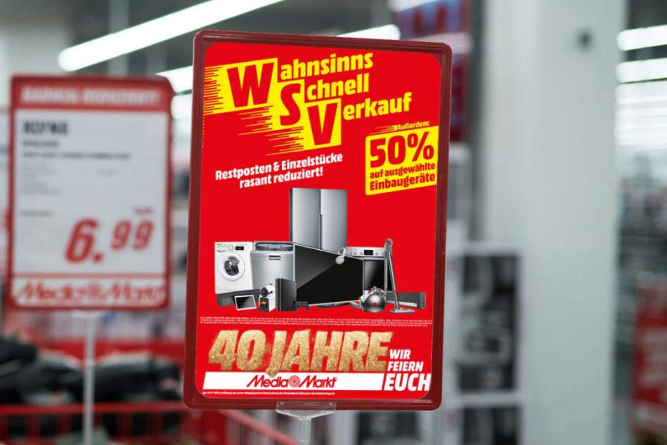 Auf welche Produkte Ihr richtig spart, erkennt Ihr an diesen roten Schildern!