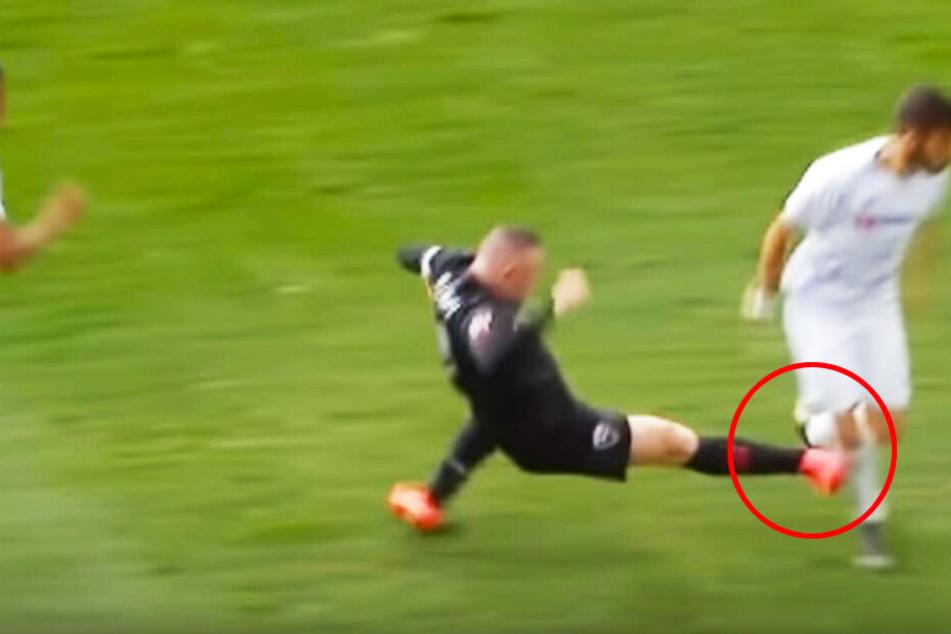 Brutale Blutgrätsche: Rooney sieht Rot!