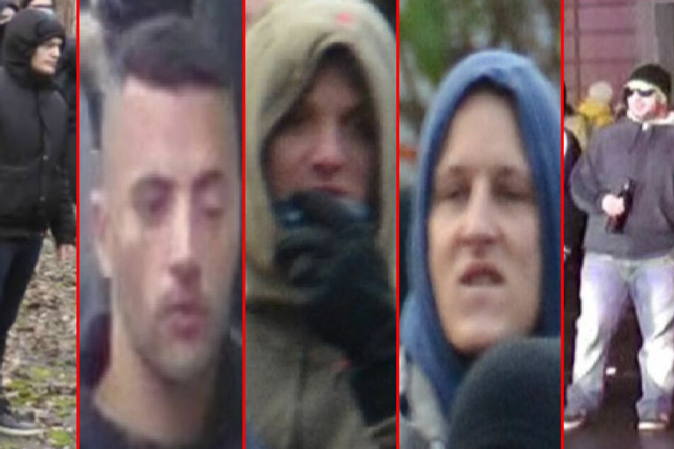 Diese Herrschaften werden von der Polizei gesucht. Sie sollen bei den schweren Ausschreitungen im Dezember 2015 in Leipzig eine maßgebliche Rolle gespielt haben. Insgesamt suchen die Ermittler sieben Randalierer.