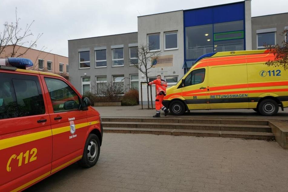 Am Donnerstagvormittag gab es einen Rettungseinsatz am Leonardo-da-Vinci-Campus in Nauen.