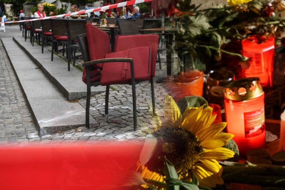 Auf dem Marienplatz in Ravensburg kam es zu dem Messerangriff: Heute wurde eine Mahnwache für die schwerverletzten Opfer abgesagt. (Fotomontage)