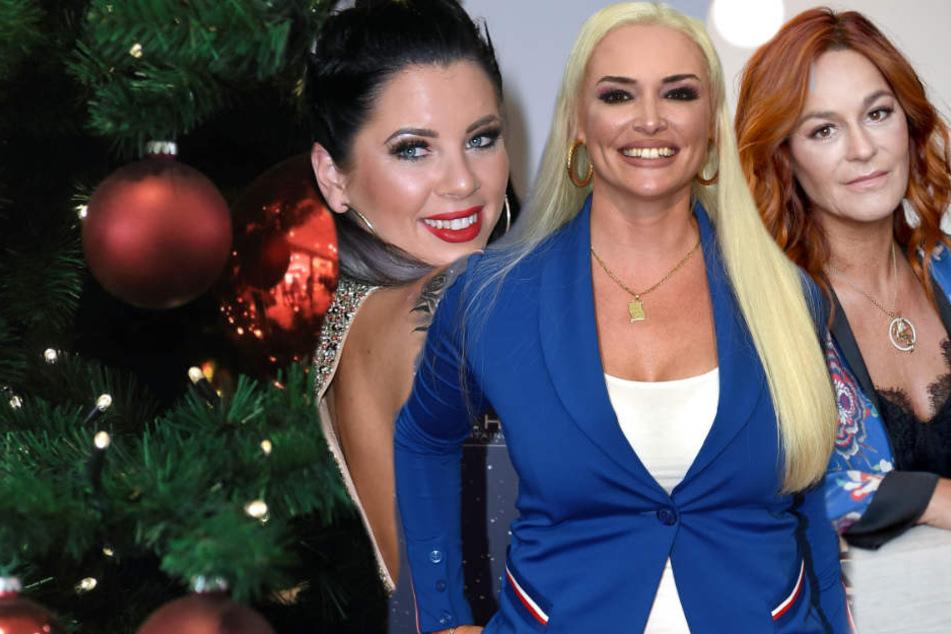 Jenny Frankhauser (links im Bild) Daniela Katzenberger und Andrea Berg (rechts im Bild) begehen den ersten Advent mit ihren Fans. (Fotomontage)