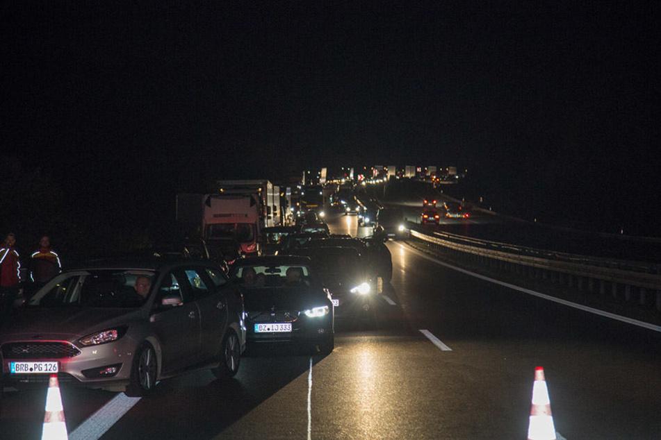 Es bildete sich ein langer Rückstau auf der A4.