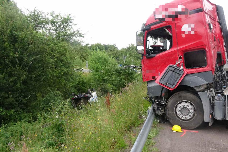 Schwerer Unfall auf der B1 bei Bornstedt.