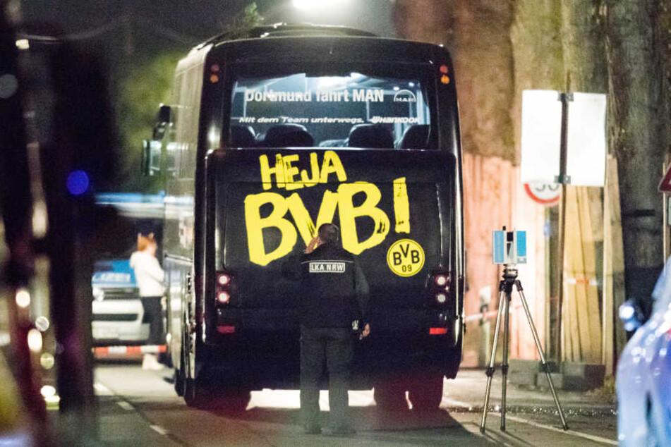 Am 11. April explodierten die Sprengsätze am Bus des BVB: