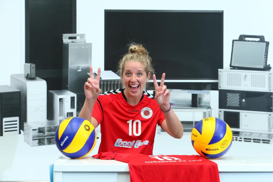 Madison Bugg freut sich, in Dresden zu sein. Die 1,83m große US-Zuspielerin ist heiß auf die neue Herausforderung.
