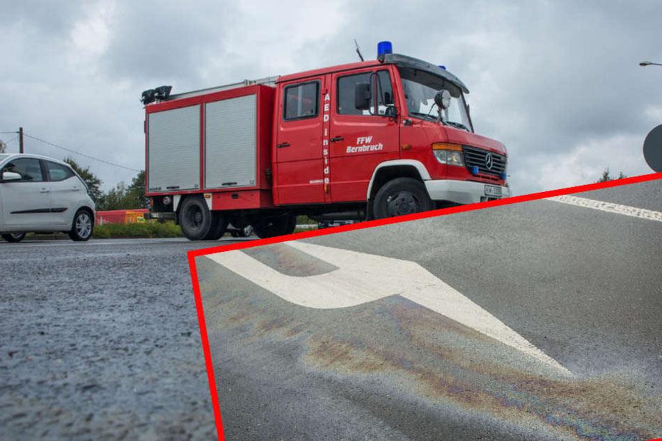 25-Kilometer-Ölspur gibt Rätsel auf! Großeinsatz für Feuerwehr