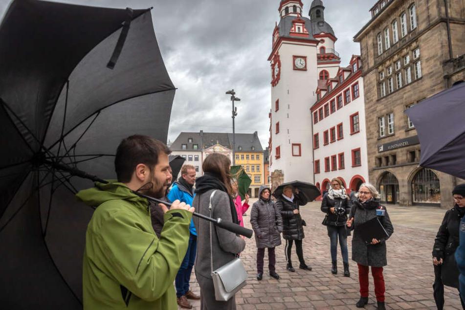 Sonntag startete der Deutsche Stadtmarketingtag in Chemnitz mit einer Führung durch die Innenstadt.