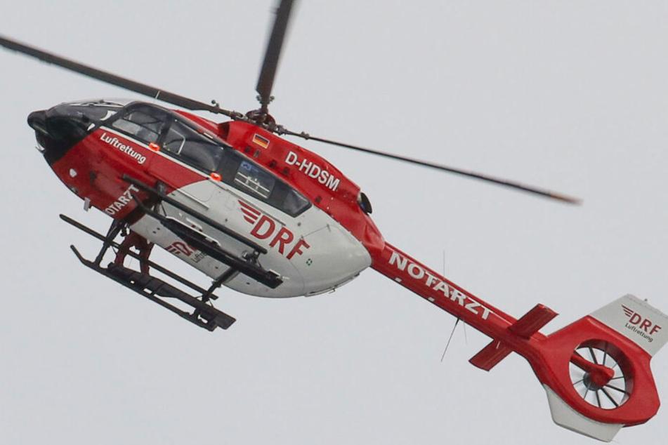 Die Bergwacht rückte mit einem Notarzt per Hubschrauber an, doch jeder Hilde kam für den Mann zu spät.