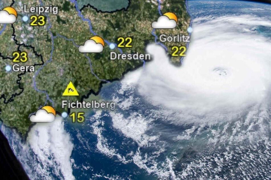 """""""Dorian"""" ist noch nicht ganz verschwunden: In Teilen des Landes kann es zu Sturmböen und Regenschauern kommen. (Bildmontage)"""
