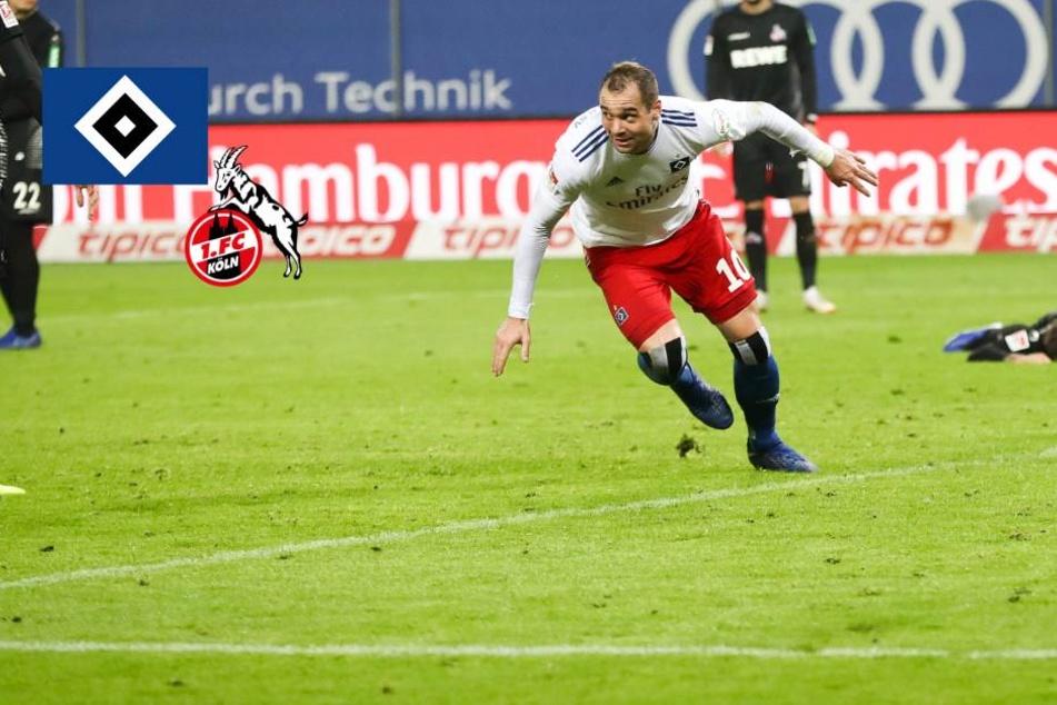 HSV bezwingt Köln im Topspiel und ballert sich an die Spitze