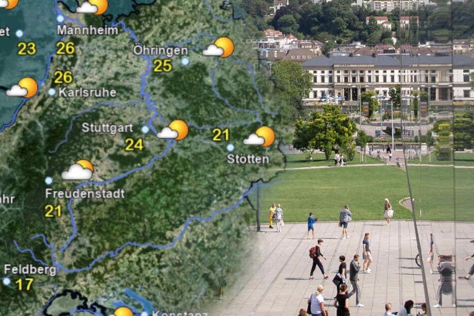 Im Ländle wird das Wetter nochmal sonniger. (Fotomontage)