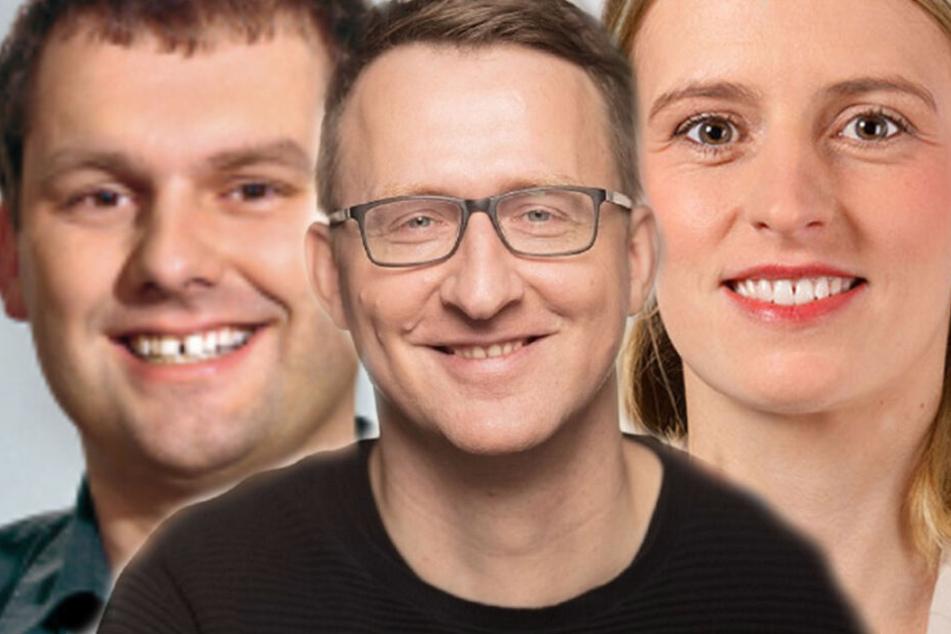 Unter anderem traten Christopher Zenker (SPD), Norman Volger (Bündnis 90/Die Grünen) und Franziska Riekewald (DIE LINKE) zur Wahl in den Leipziger Stadtrat an.