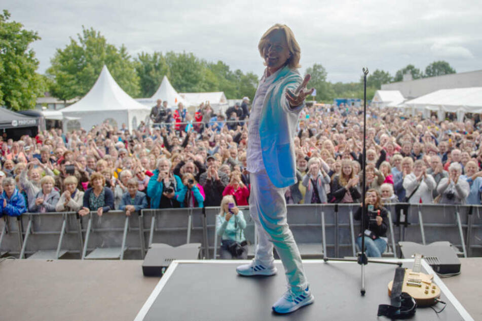 Schlager-Star Jürgen Drews trat beim Fan-Fest auf.