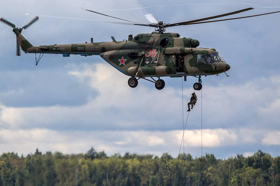 Im Norden Russland ist ein Hubschrauber vom Typ Mi-8 abgestürzt. Mindestens 19 Menschen starben. (Symbolbild)