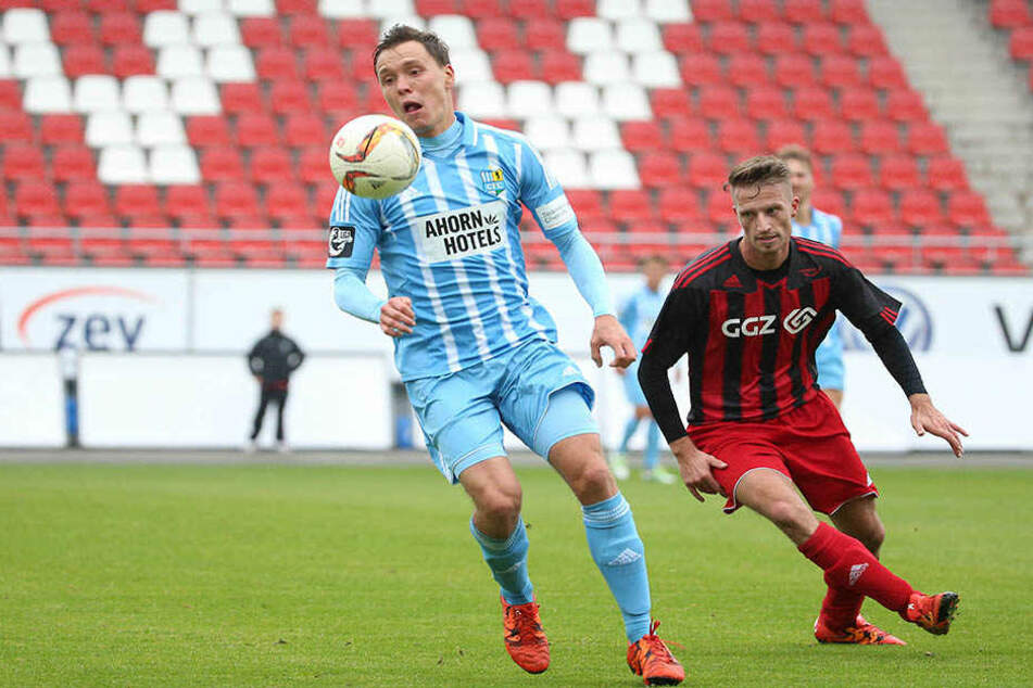 Auch Alexander Bitroff (l.) steuerte einen Treffer zum klaren Chemnitzer Erfolg bei.