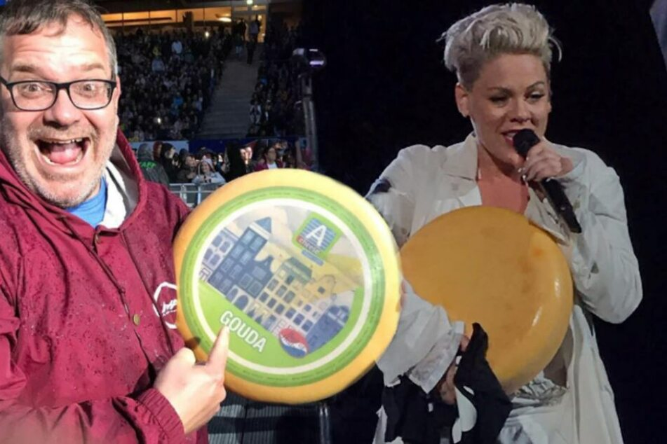 Alles Käse? Elton macht Sängerin Pink kurioses Fan-Geschenk