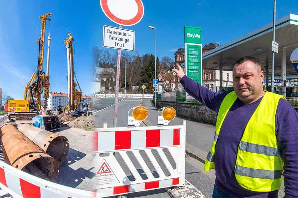 Hier regiert in Chemnitz der totale Baustellen-Wahnsinn