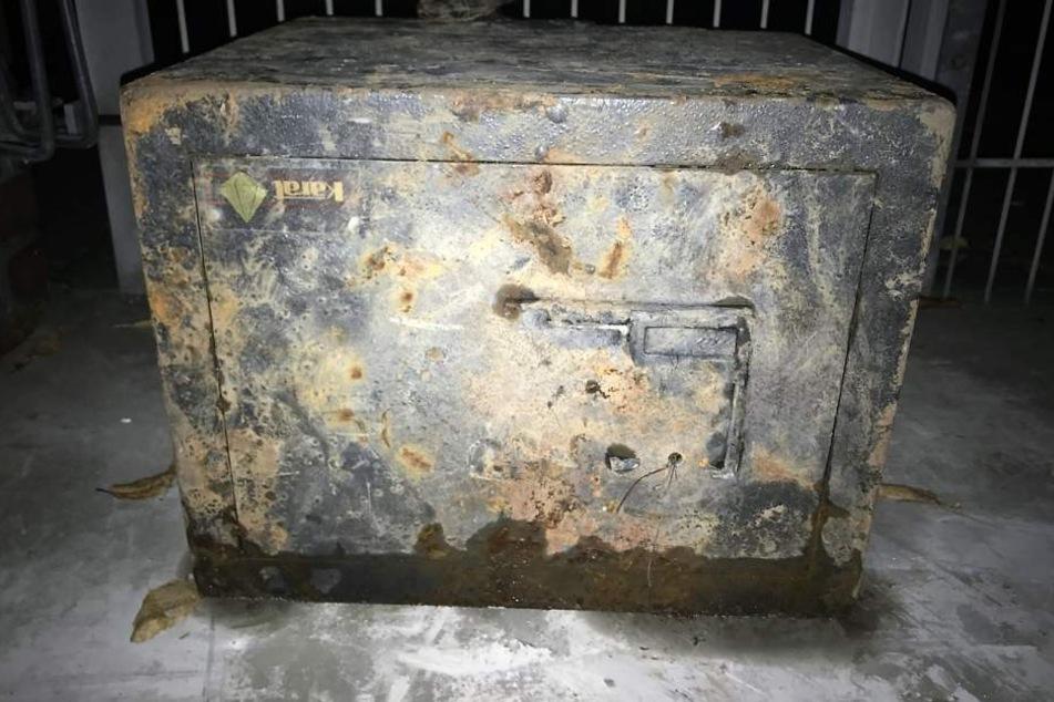 Dieser Tresor wurde am Rhein in Dormagen gefunden.