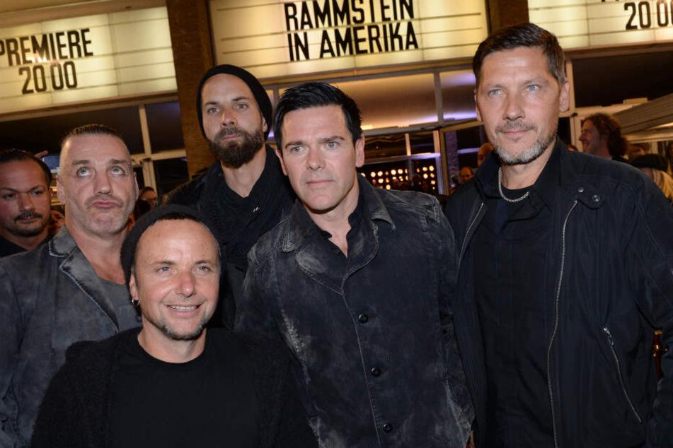 Die Band Rammstein bei der Premiere zu ihrer Doku-DVD über ihren Erfolg in Amerika.