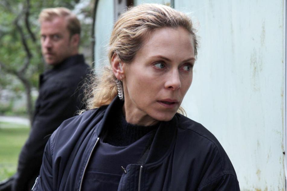 """Kommissarin Maria Wern (Eva Röse) ist am 1. Januar 2019 mit dem Schweden-Krimi """"Maria Wern, Kripo Gotland"""" in der ARD zu sehen."""