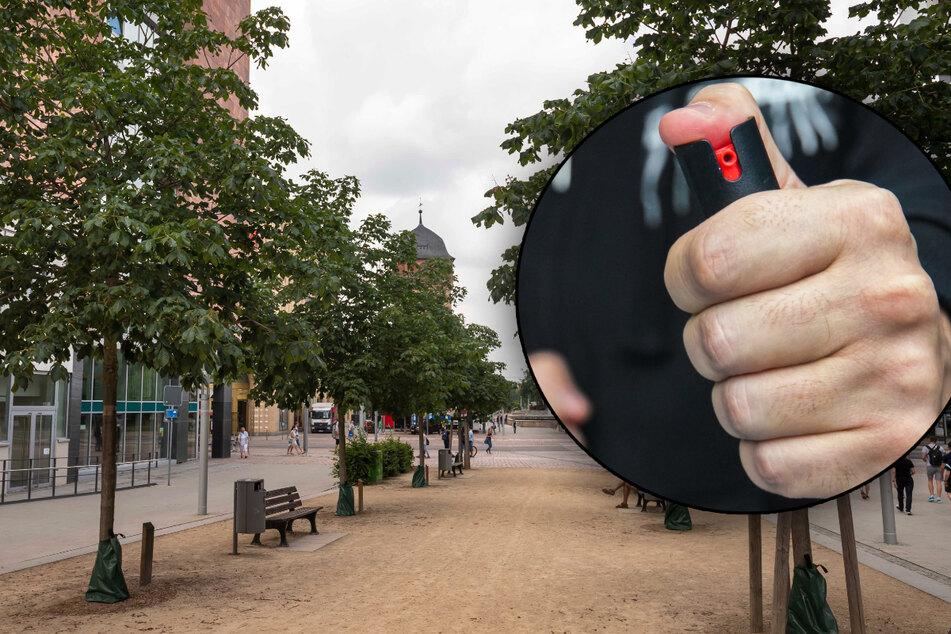 Chemnitz: Chemnitz: Versuchter Fahrrad-Raub endet mit Reizgas-Attacke