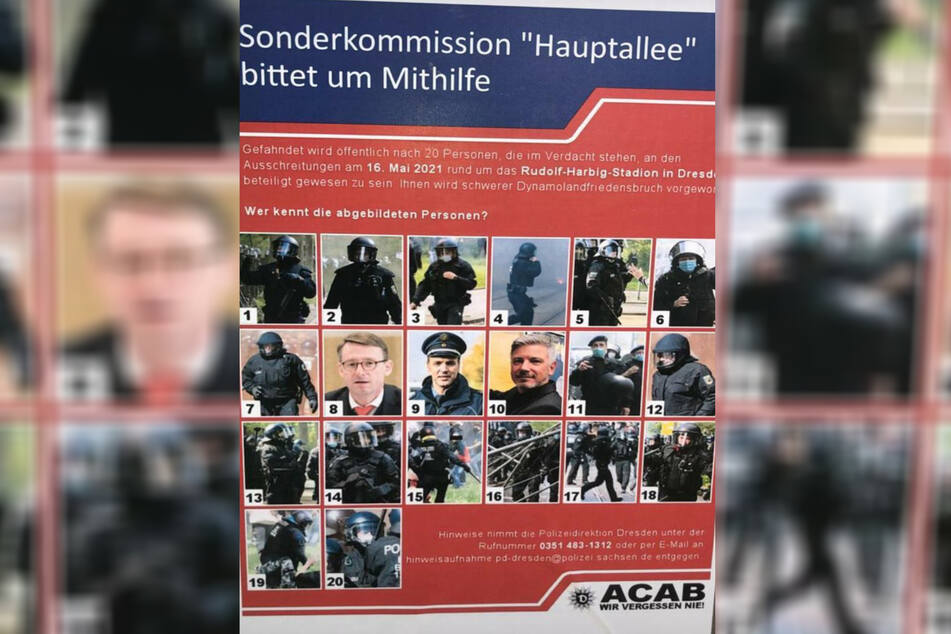 Der Staatsschutz ermittelt jetzt gegen die Fake-Plakat-Kleber.