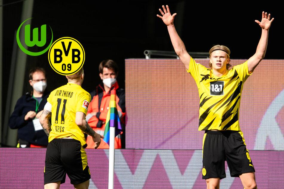 Haaland mit nächstem Doppelpack: Effektiver BVB glänzt in Wolfsburg auch in Unterzahl!