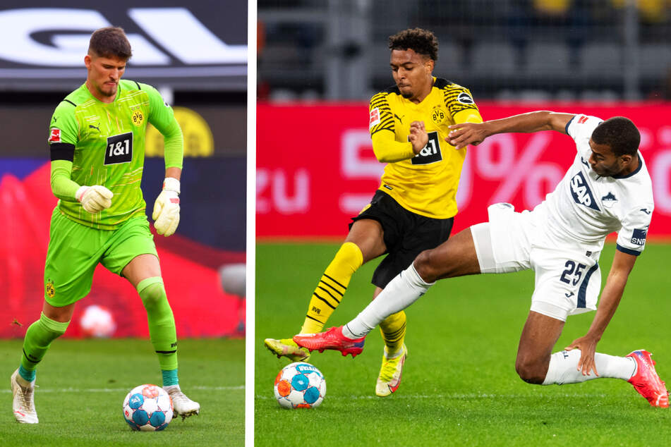 Gregor Kobel (23, l.) und Donyell Malen (22, M.) sind die beiden Top-Transfers von Borussia Dortmund. Während ersterer seine Qualitäten bereits zeigte, braucht letzterer noch ein wenig Zeit.