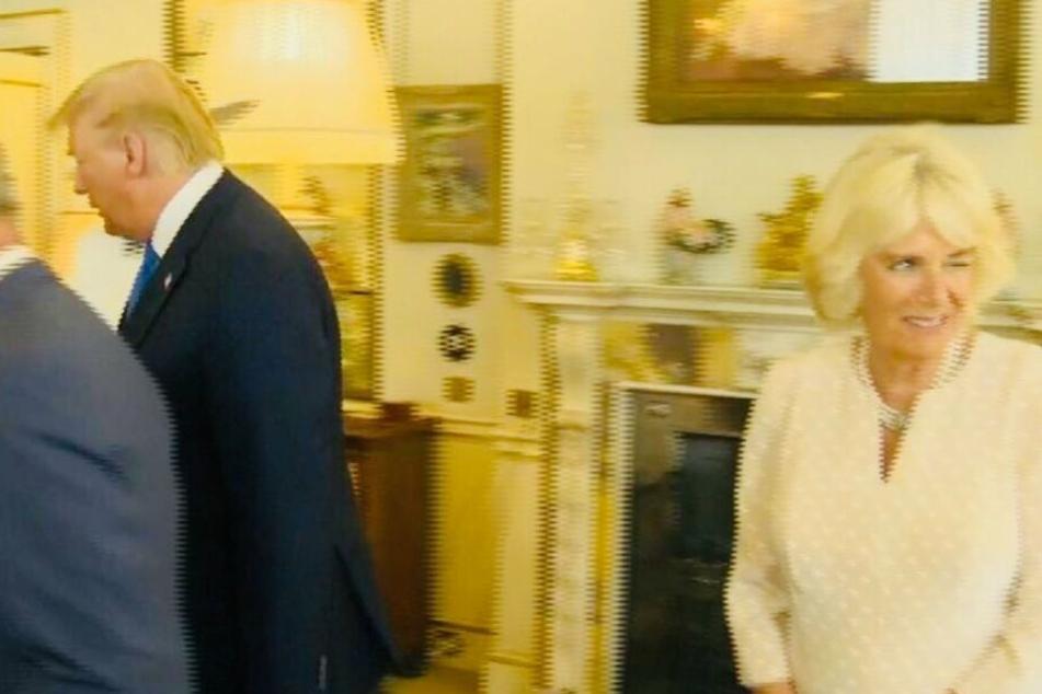 Verräterisches Zwinkern: Machte sich Camilla über Trump lustig?