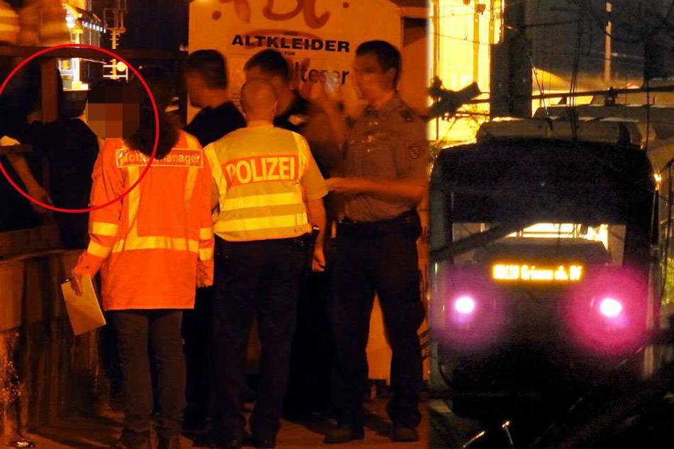 Der junge Mann (l.) musste mit ansehen, wie sein Kumpel (19) von einem Regionalzug erfasst und getötet wurde.