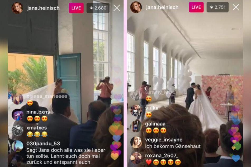 Das Live-Video von Jana Heinisch auf Instagram.