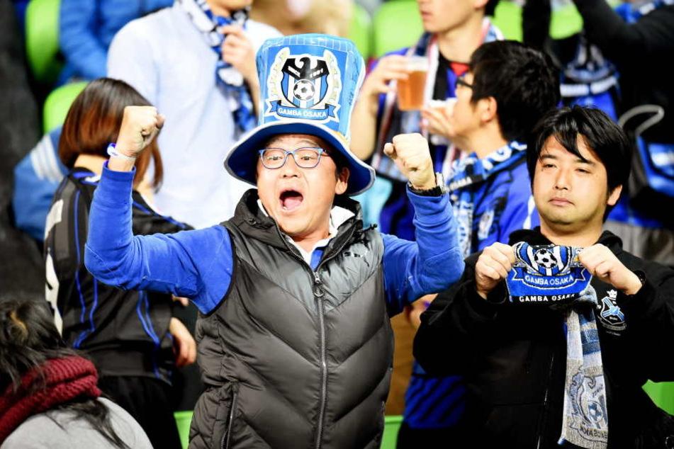 Gamba Osaka-Fans beim Champions League-Spiel gegen Melbourne Victory im Mai 2016.