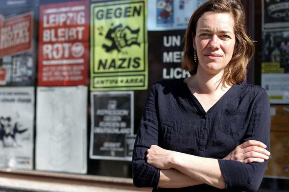 Stadträtin Juliane Nagel wurde von der Polizei aufgefordert, sich von der Tat zu distanzieren.