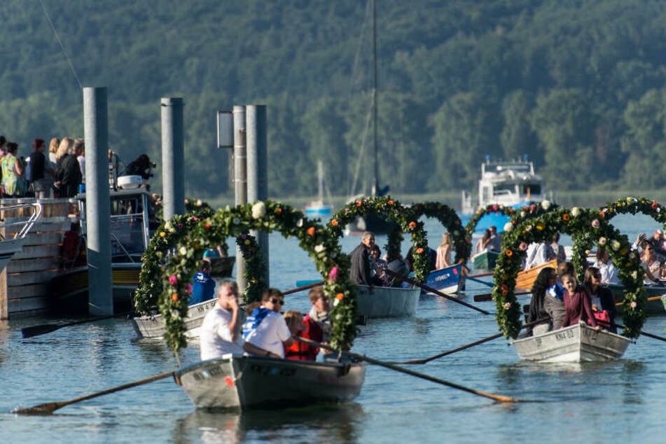 Nanu, was machen diese Boote auf dem Bodensee?