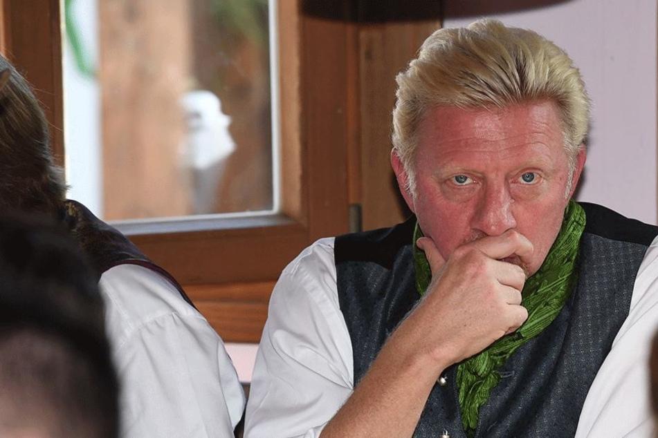 Boris Becker zwei Tage vor seiner Operation.