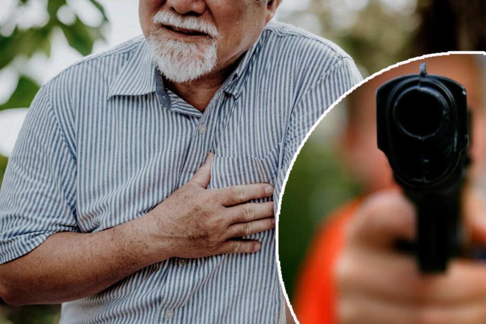 Mit Spielzeugpistole bedroht: Rentner stirbt an Herzinfarkt