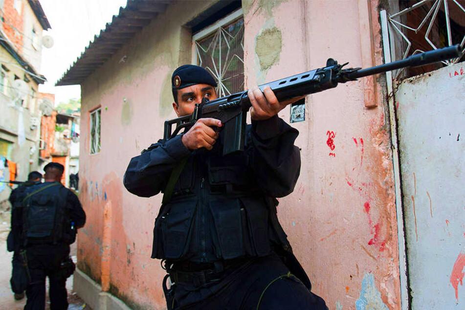 Die brasilianischen Sicherheitskräfte sind für ihr hartes Vorgehen bekannt. (Symbolbild)