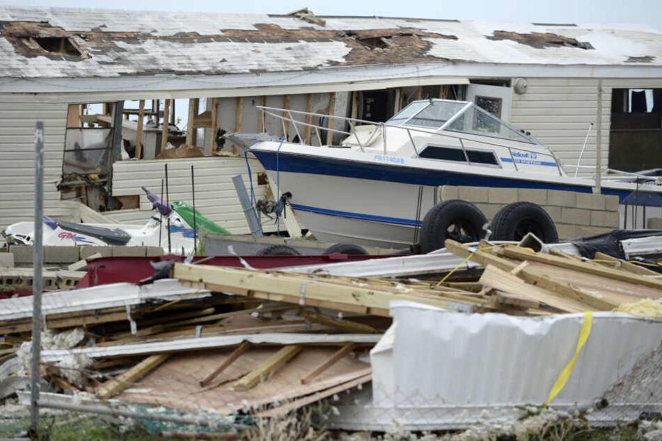 """Ein Bild der Zerstörung: Hurrikan """"Irma"""" richtete immense Schäden."""