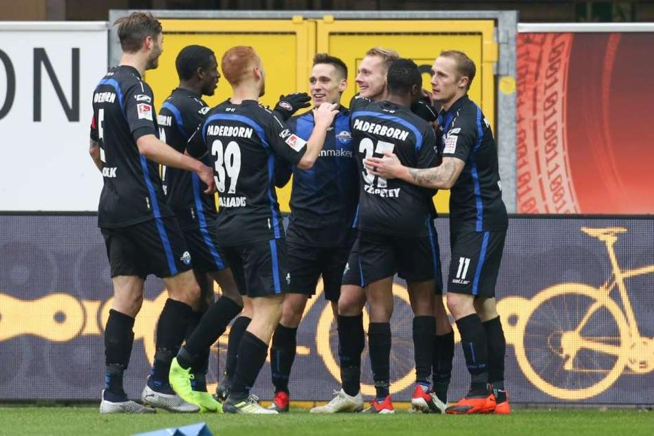 Verdiente Führung der Paderborner in der 54. Minute.