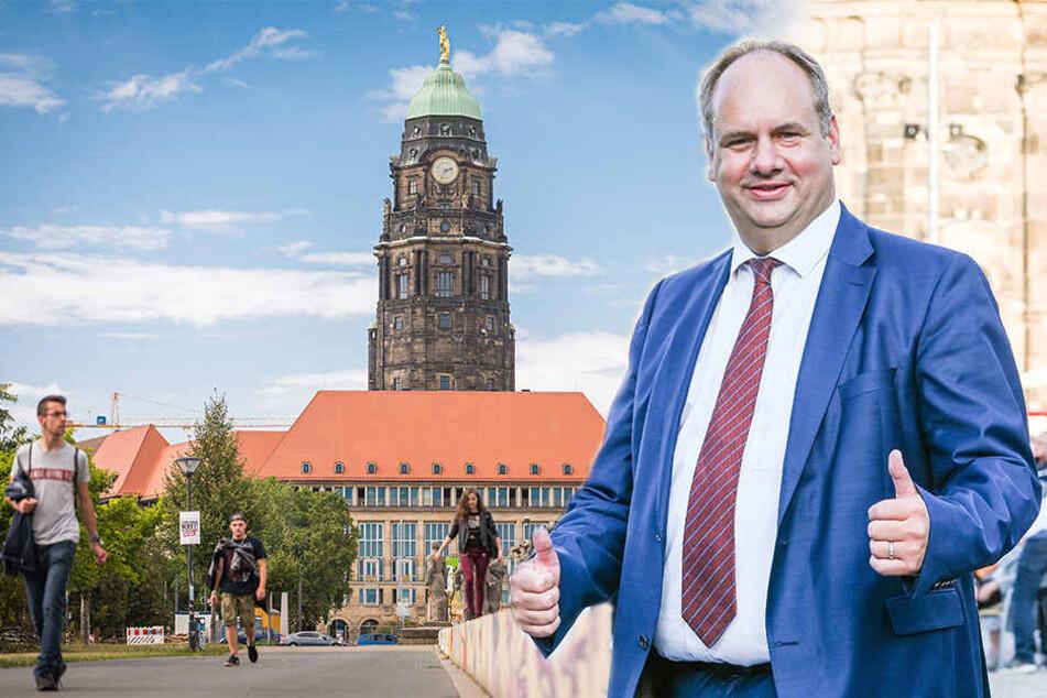 Kneift etwa Hilberts Sakko unterm Arm? Maßschneider vom Dresdner Rathaus gesucht
