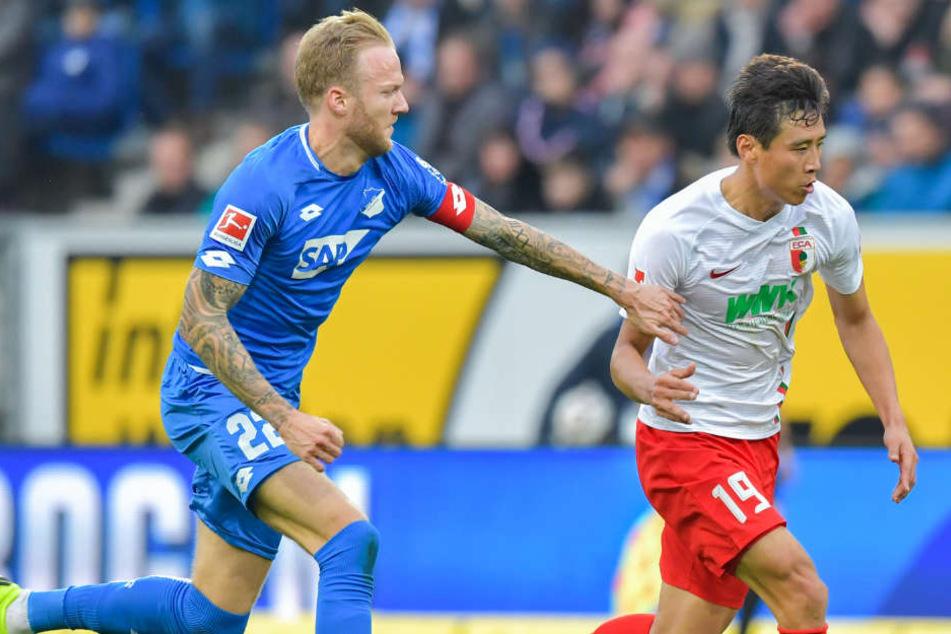 Die Hoffenheimer waren dem FC Augsburg im heutigen Spiel etwas überlegen.