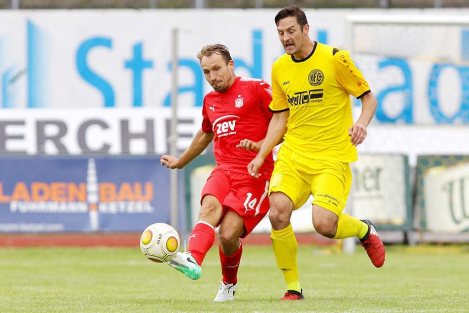 Kapitän Wachsmuth (l.) will mit dem FSV Zwickau im Sachsenderby  beim Chemnitzer FC punkten.