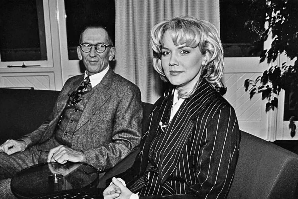 Inka im MDR-Riverboat 1995 neben ihrem Vater Arndt (1936-2003).