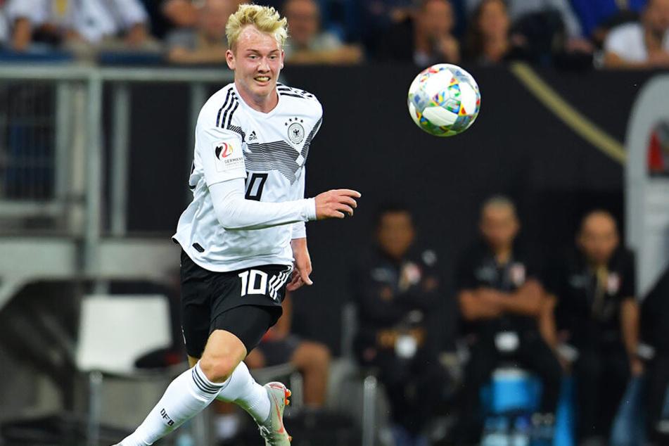 Julian Brandt stand nicht nur in 24 A-Länderspielen auf dem Platz, sondern war seit der U15 Jugend-Nationalspieler und kam im Junioren-Bereich auf stolze 50 (!) Einsätze für Deutschland.