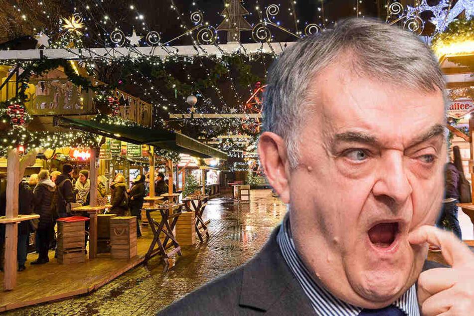 NRW-Innenminister Herbert Reul (65, CDU) wird auch weiterhin auf Weihnachtsmärkten unterwegs sein.